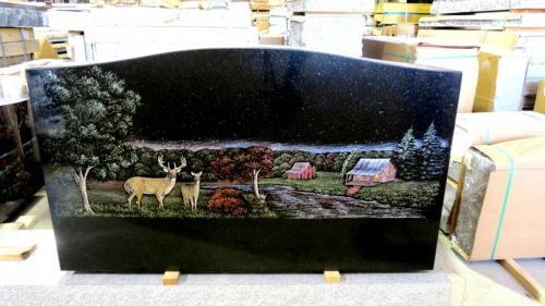 3-6 Deer Cabin Scene